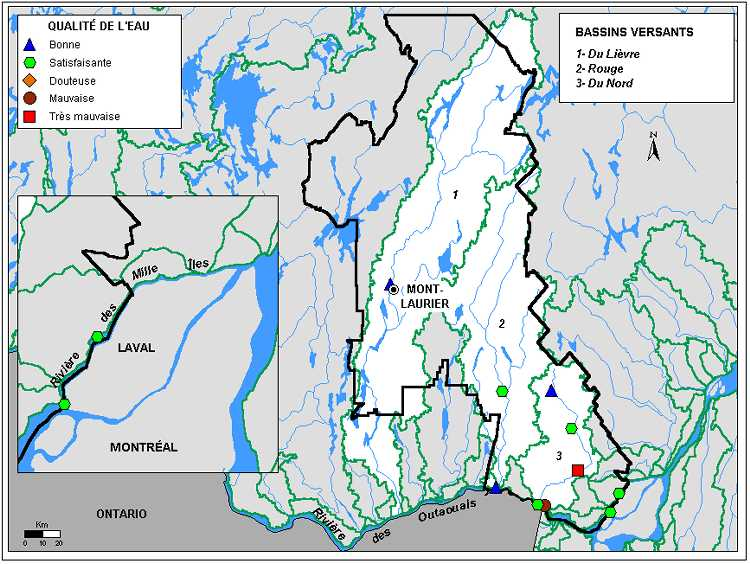 Qualité de l'eau des rivières de la région des laurentides